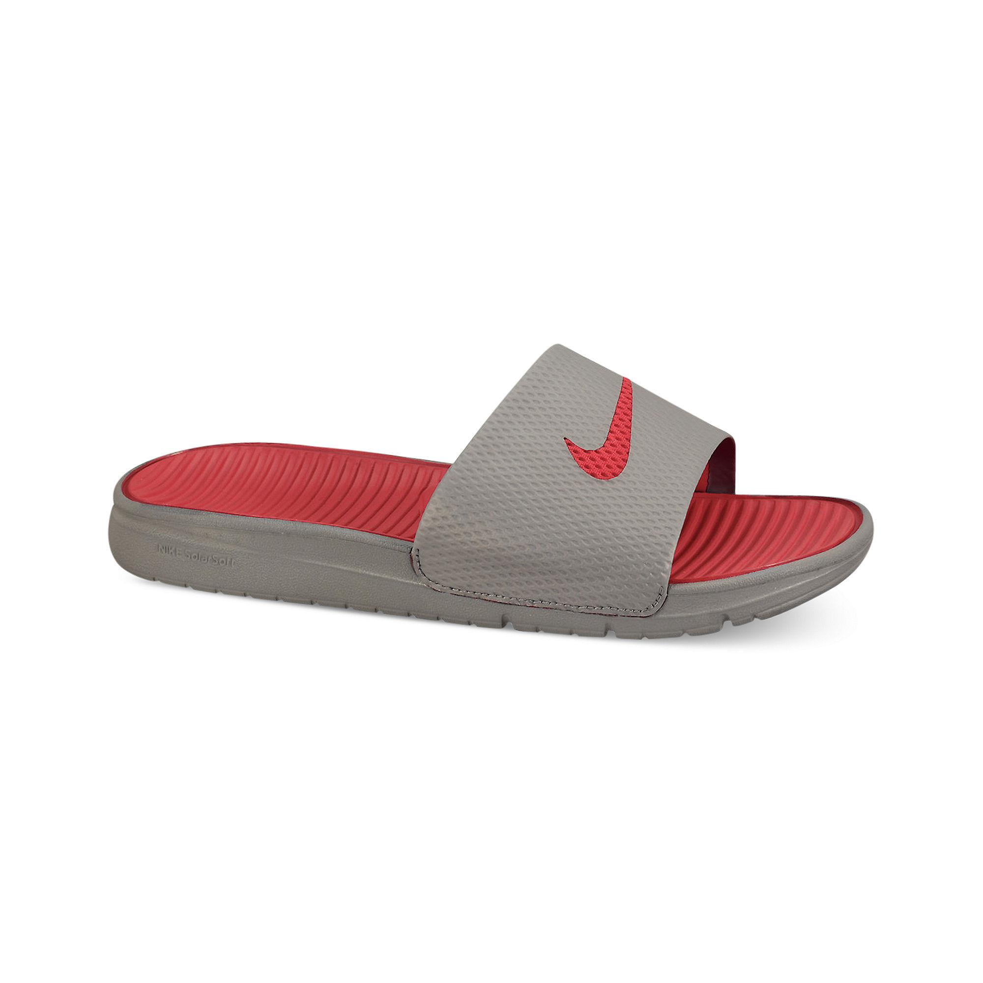 a78d4382f36 Lyst - Nike Benassi Solarsoft Slides in Gray for Men