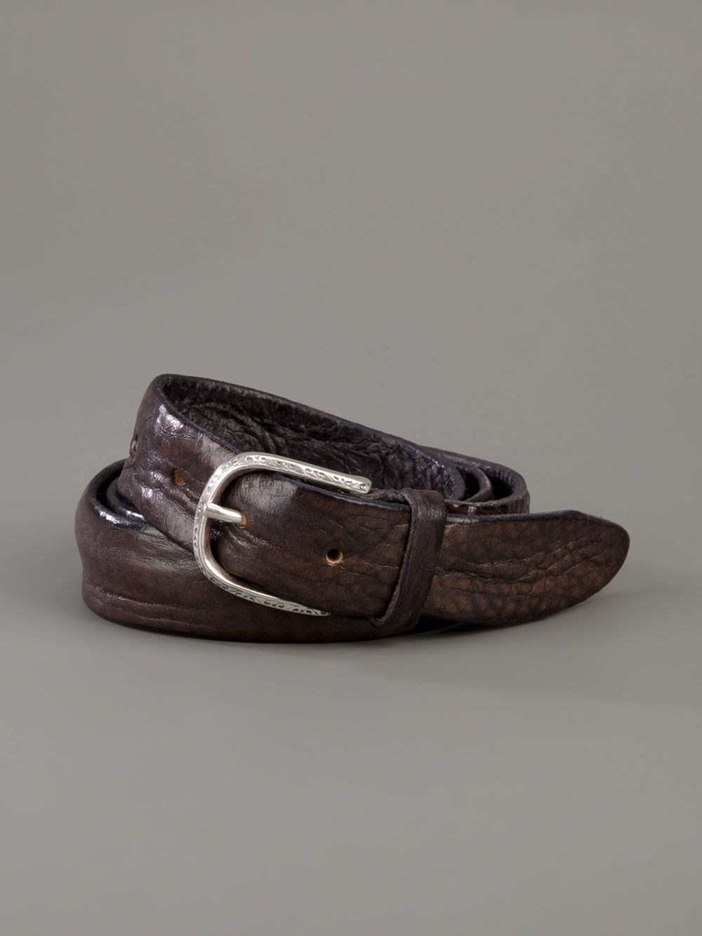 orciani leather belt in brown for lyst