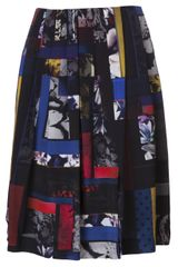 Paul Smith Pleated Print Skirt - Lyst