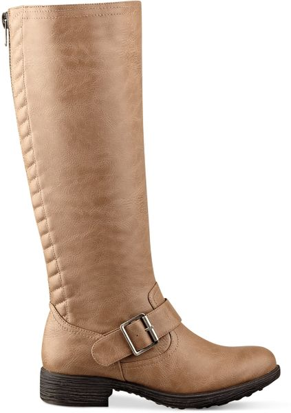 pink and pepper cleo wide calf boots in beige taupe lyst