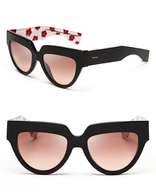 9f5697ae4d3d ... top quality lyst prada geometric oversized inner print poem sunglasses  in black 90fc1 bc94c