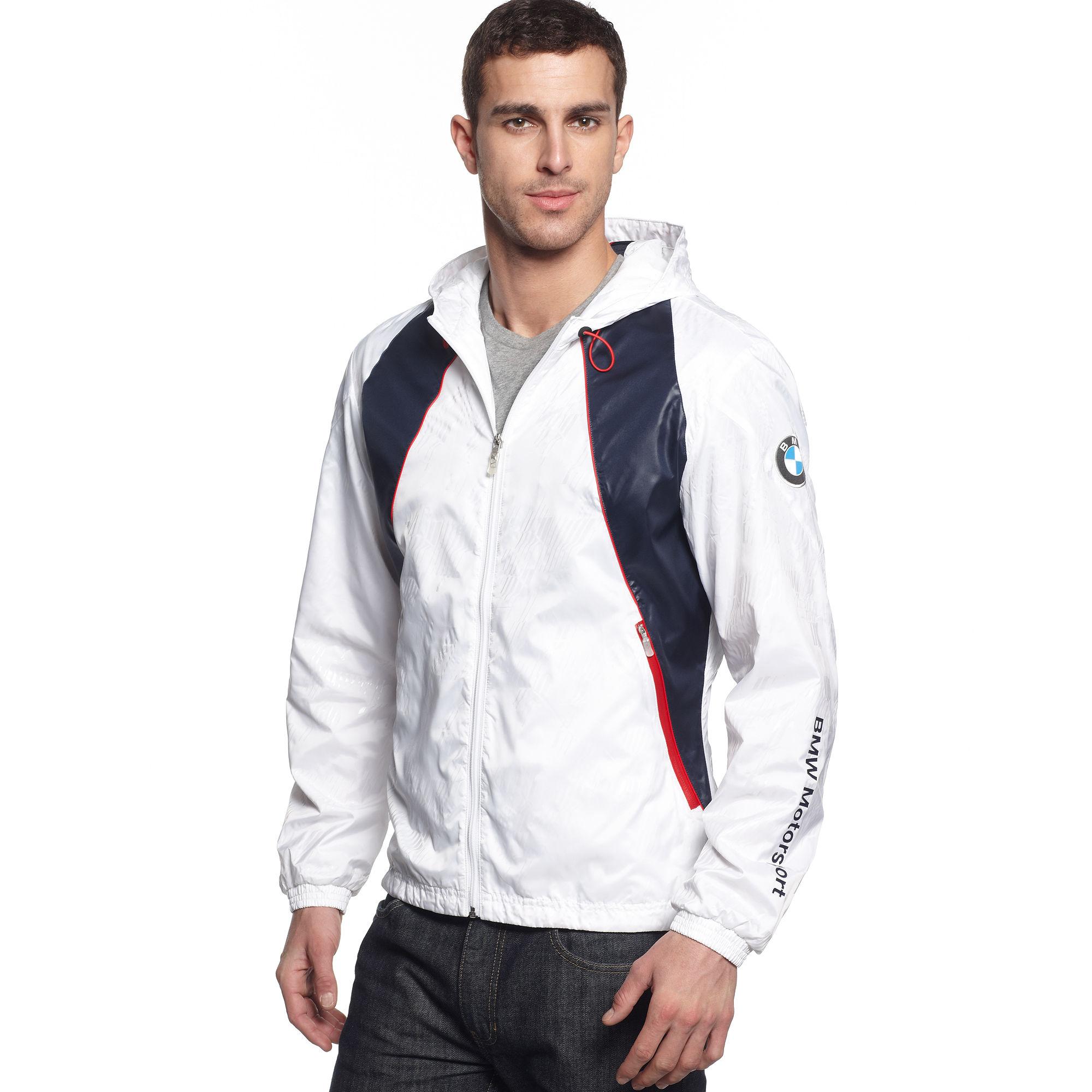 lyst puma bmw lightweight jacket in white for men. Black Bedroom Furniture Sets. Home Design Ideas