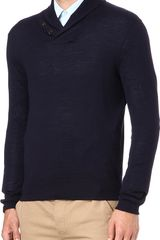 Ralph Lauren Shawl Collar Jumper - Lyst