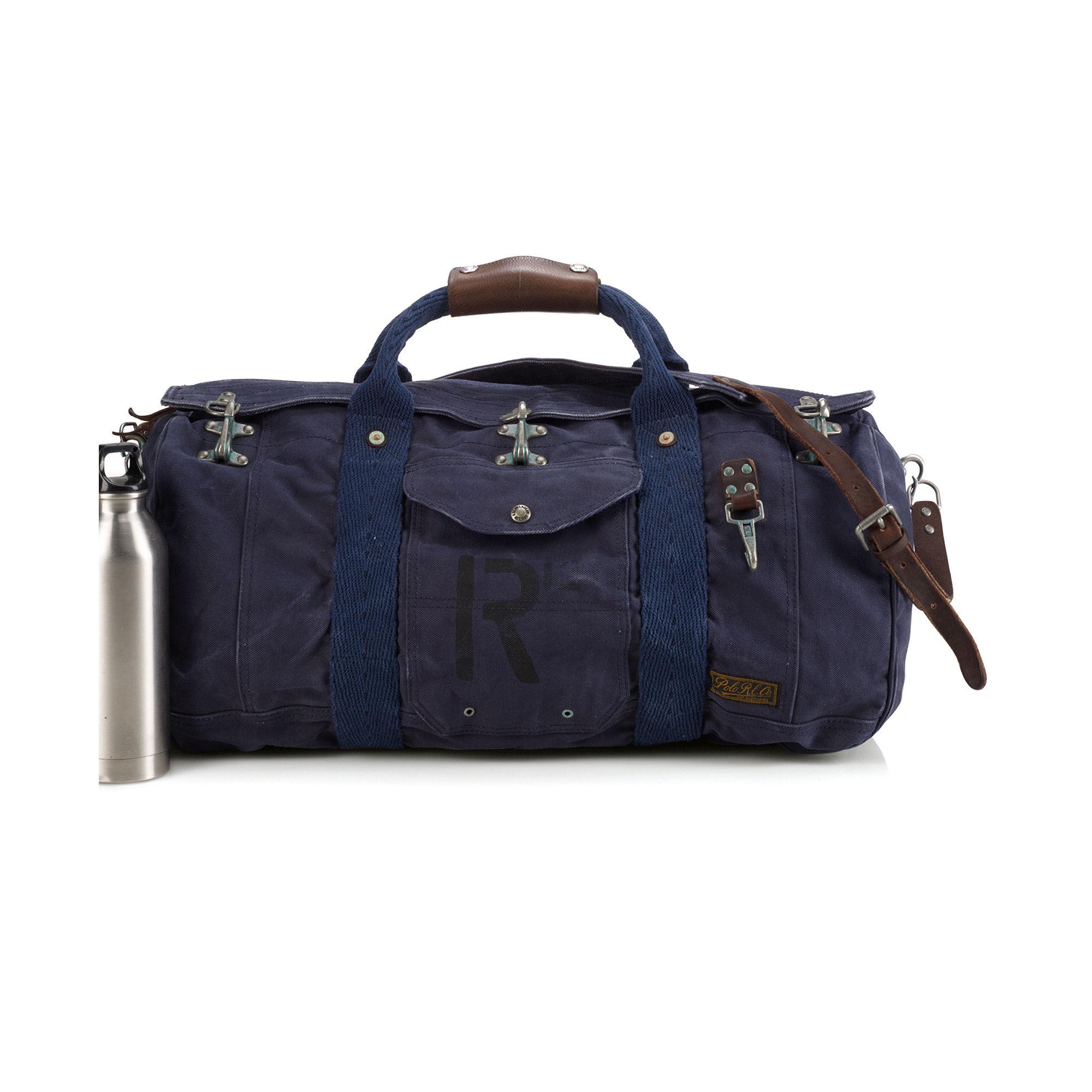 2ec56f38d367 ... closeout lyst ralph lauren firemans canvas duffel bag in blue for men  94a31 4a8a8 inexpensive lyst polo ralph ...