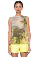 RED Valentino Tropical Landscape Print Top - Lyst