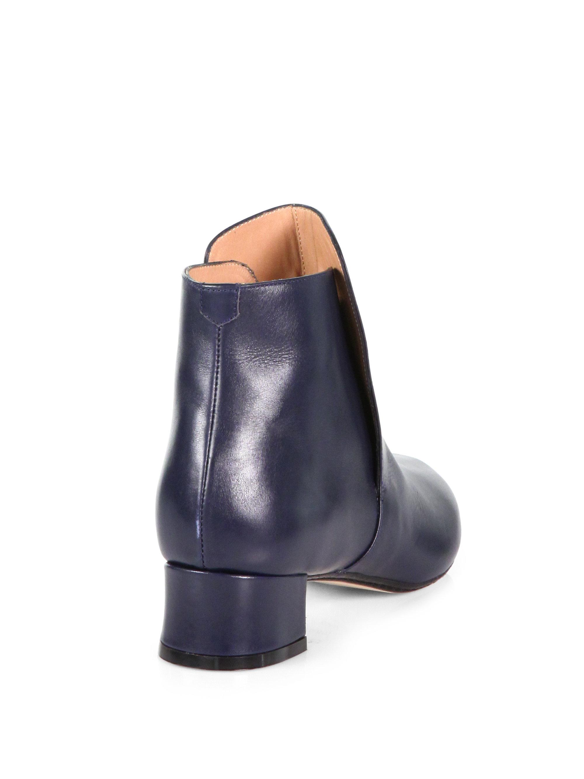 Robert clergerie Snob Leather Ankle Boots in Blue | Lyst