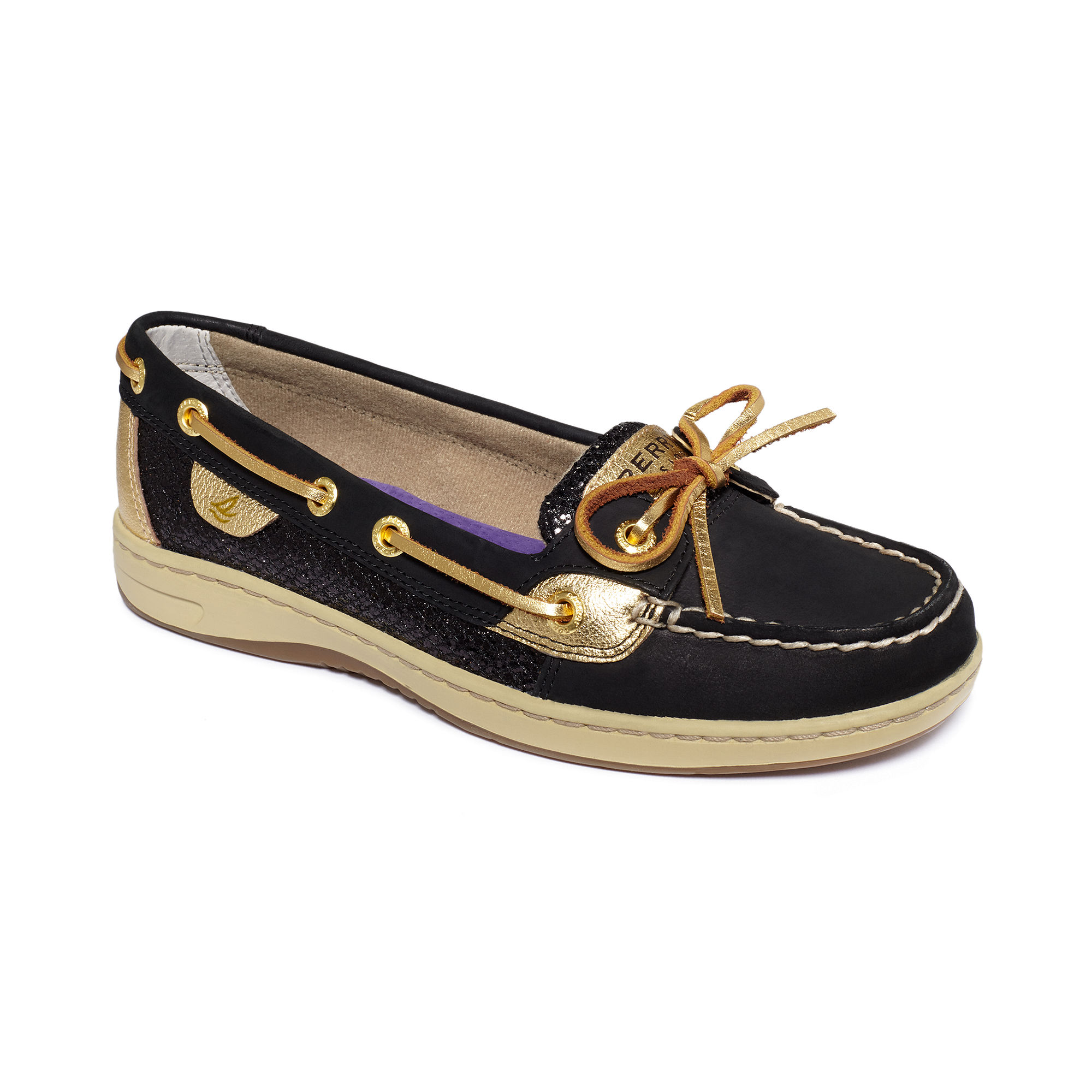 Sperry Black Glitter Shoes