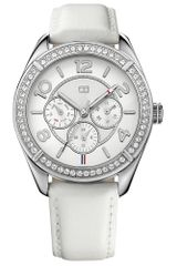 Tommy Hilfiger Womens White Leather Strap 40mm - Lyst