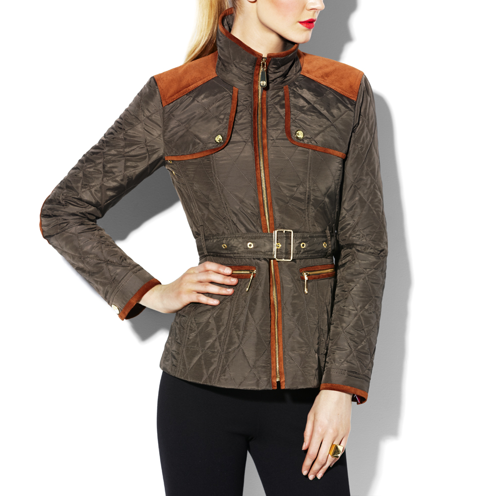 Lyst Vince Camuto Transitional Quilted Jacket In Green