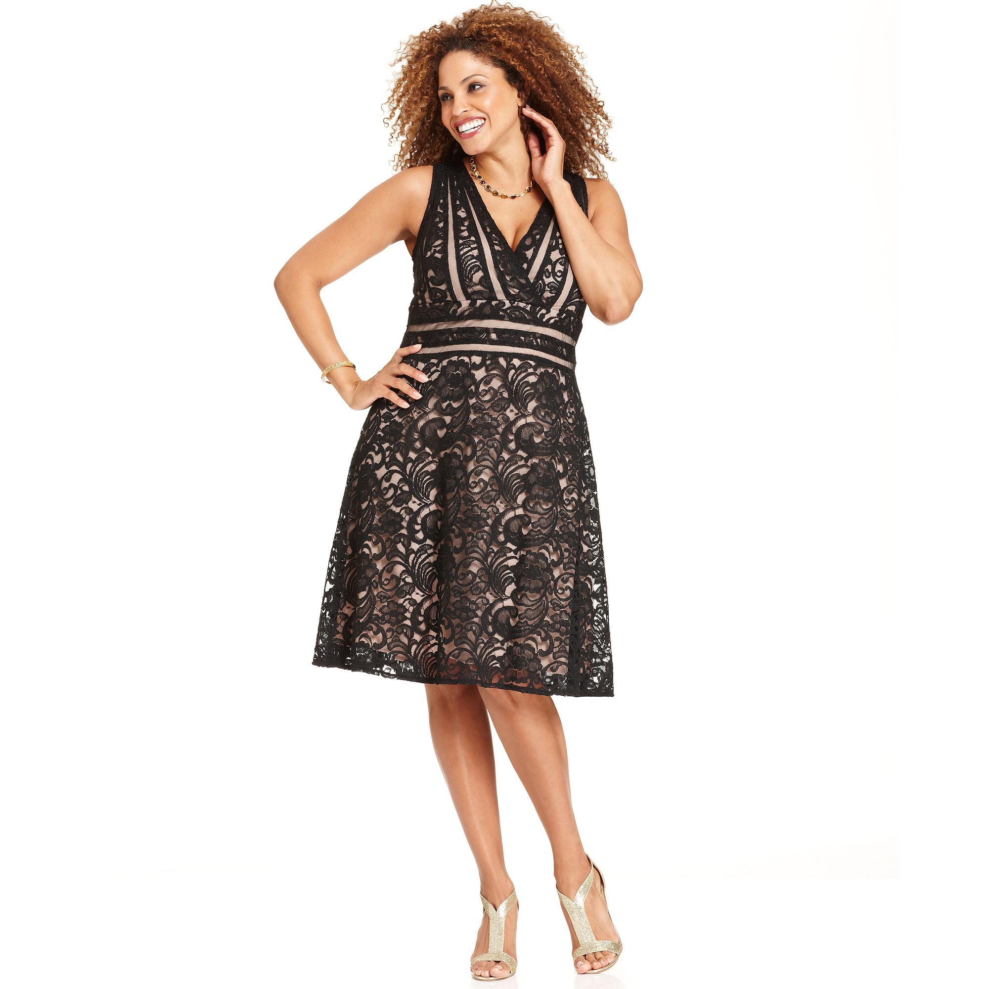 646fed41acd Xscape Xscape Plus Size Dress Sleeveless Lace Aline in ... - photo 36