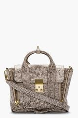 3.1 Phillip Lim Taupe Embossed Leather Pashli Mini Satchel - Lyst