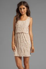 Alice + Olivia Alice Olivia Gabby Beaded Blouson Tank Dress in Beige - Lyst