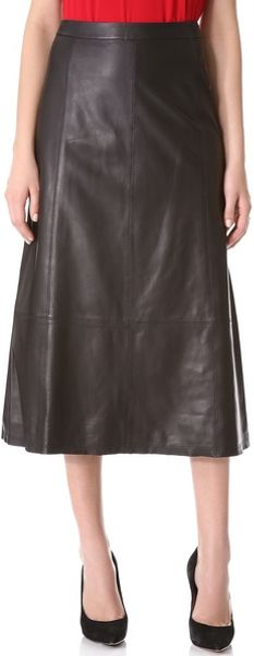 Alice + Olivia Alice Olivia Kailey Leather Midi Skirt - Lyst