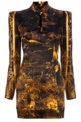 Balmain Oriental Print Structured Dress - Lyst