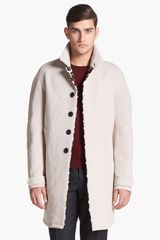 Burberry Prorsum Trench Coat with Calf Hair Lapel Trim - Lyst