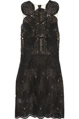 Christopher Kane Motif Macramé Lace Mini Dress - Lyst