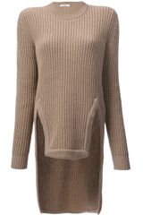 Givenchy Ribbed Asymmetrical Sweater - Lyst