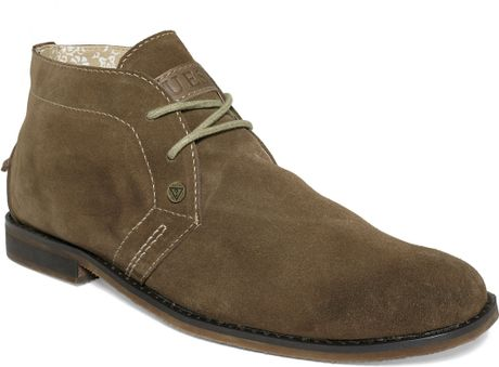 Guess Mens Shoes Hayden Chukka Boots in Brown for Men (Tan) - Lyst