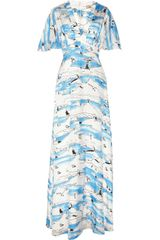 Issa Printed Silk-chiffon Maxi Dress - Lyst