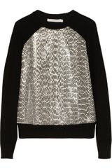 Jason Wu Elaphepaneled Wool Sweater - Lyst