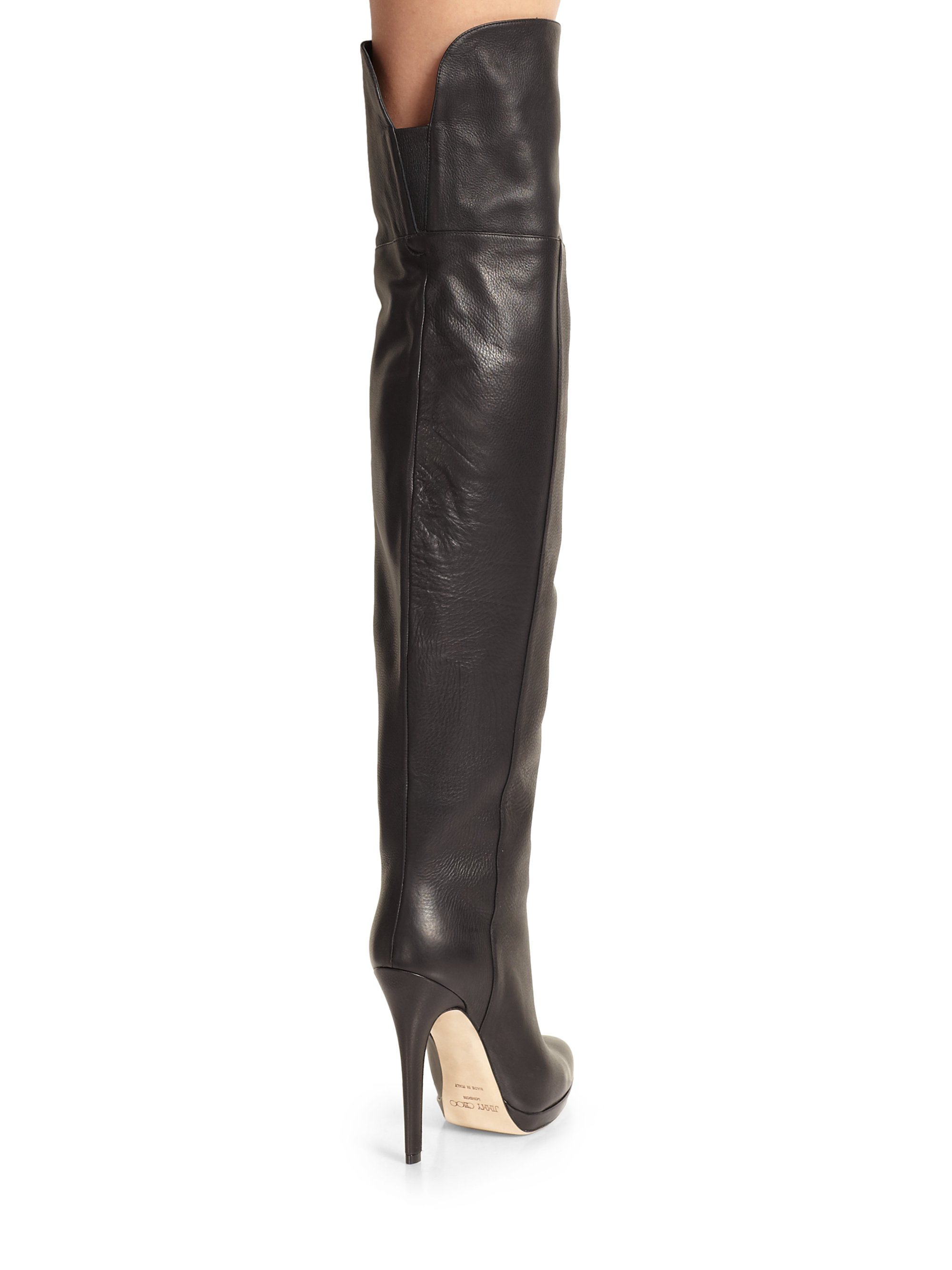 9f4d0bee7e7 Lyst - Jimmy Choo Giselle Leather Over-the-knee Boots in Black
