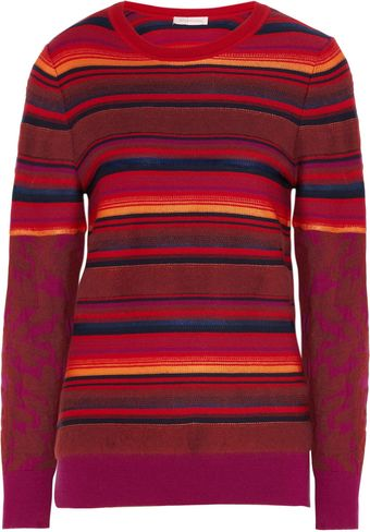 Matthew Williamson Striped Midweight Sweater - Lyst