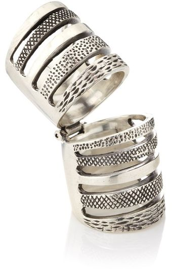 Pamela Love Silver Double Cage Ring - Lyst