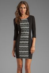 Plenty By Tracy Reese Zig Zag Jacquard Sexy Shift Dress in Black - Lyst