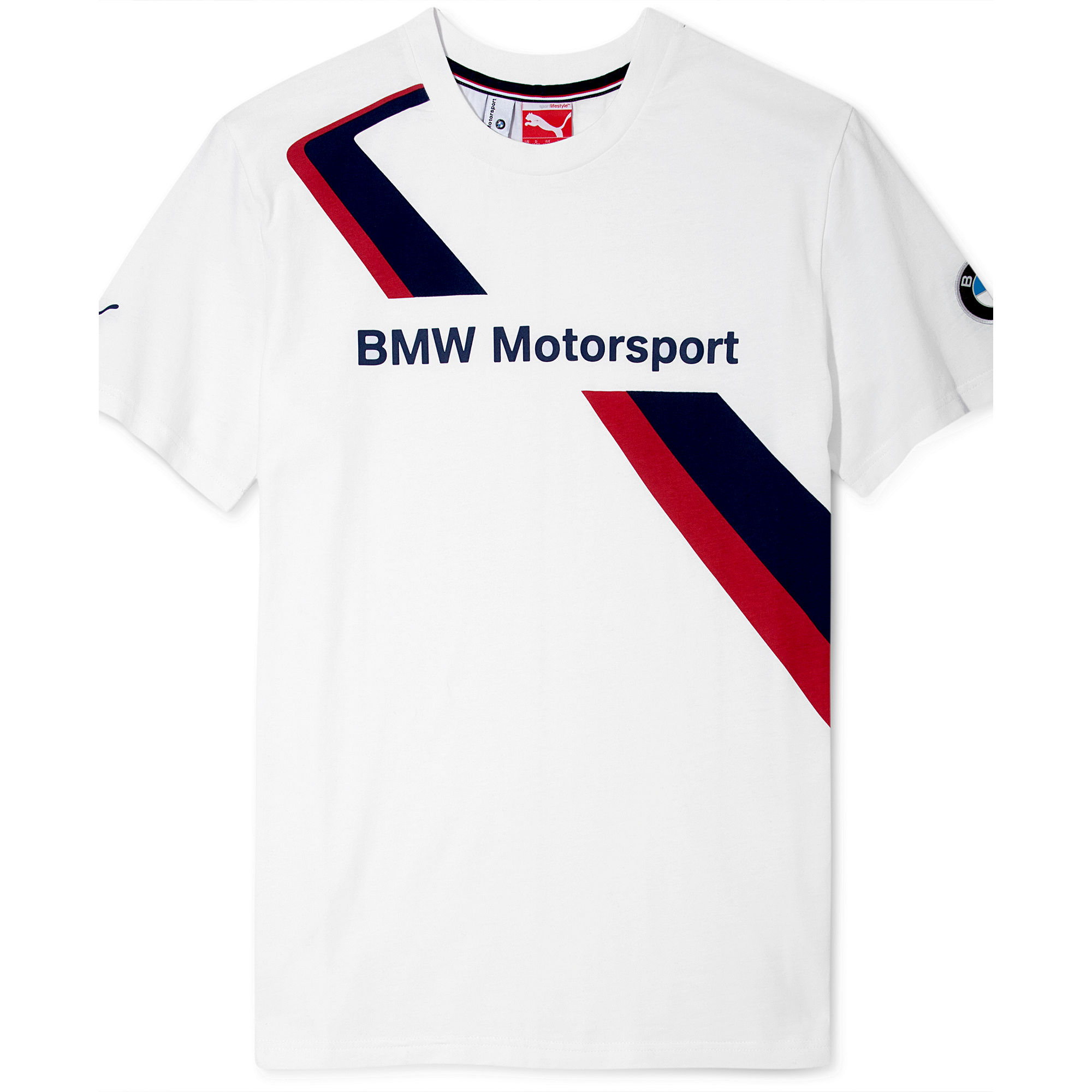 puma bmw tshirt in white for men lyst. Black Bedroom Furniture Sets. Home Design Ideas