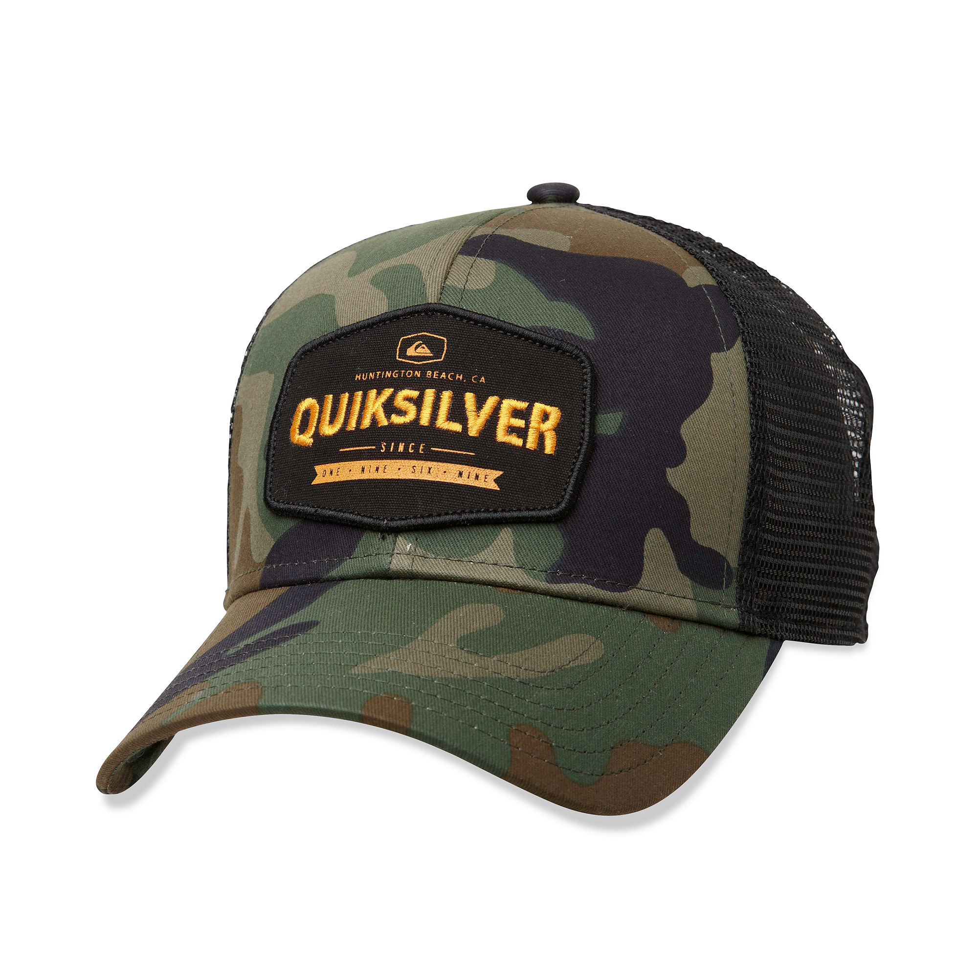 Lyst - Quiksilver Please Hold Graphic Trucker Hat in Green for Men 400bf25ef34