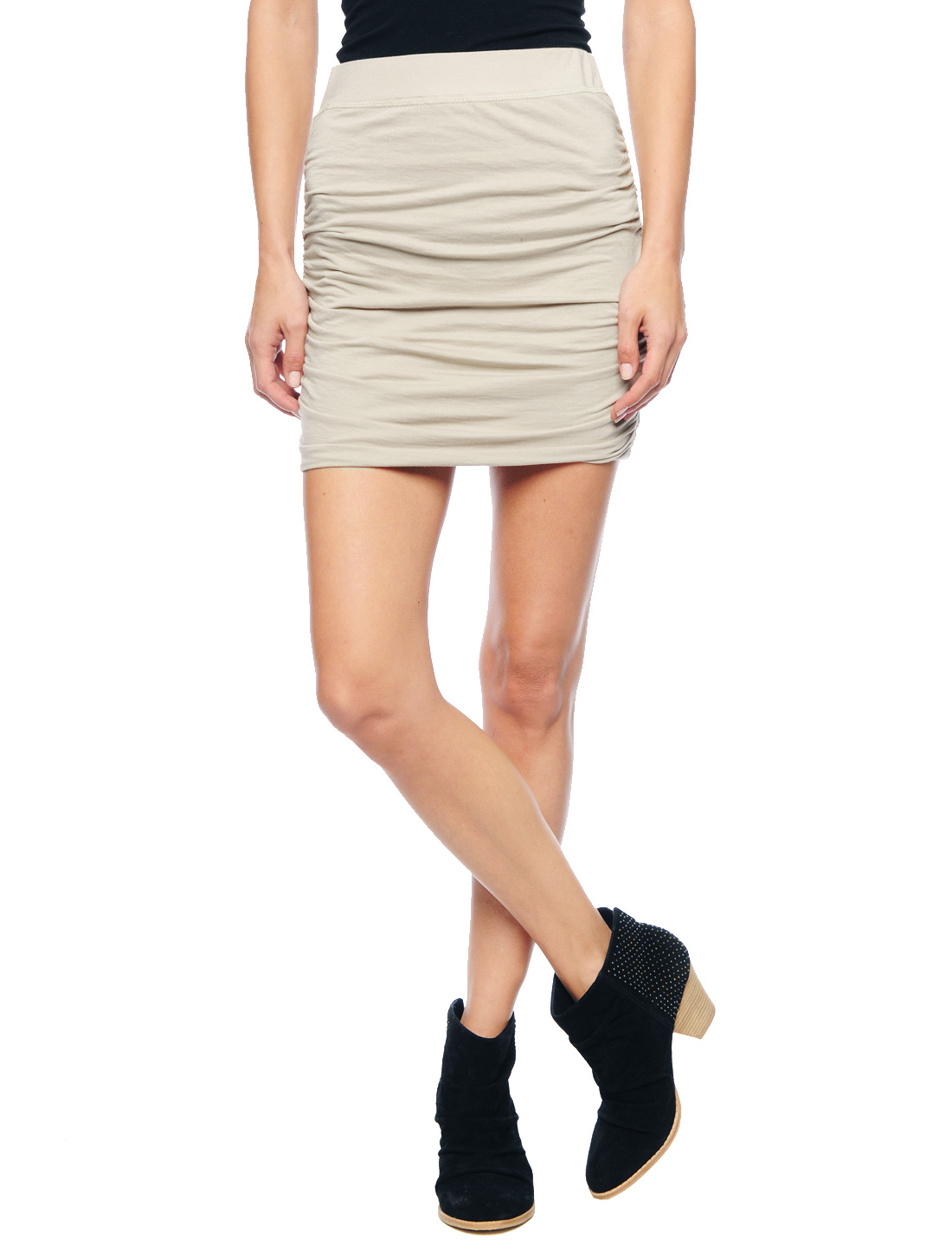 splendid ruched mini skirt in lyst