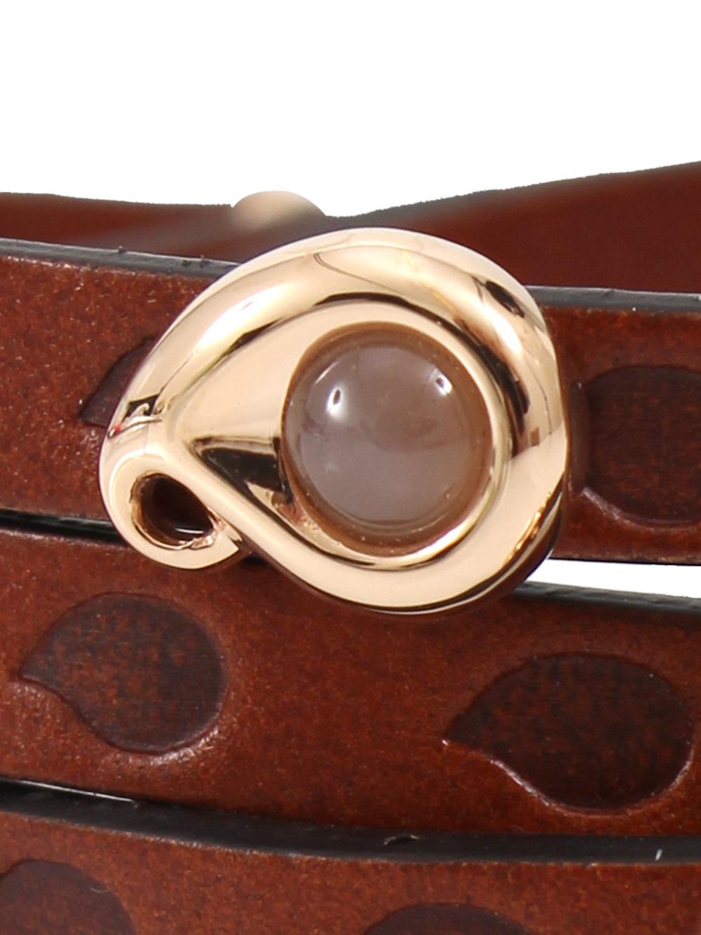 Tamara Comolli Loopy Wrap Bracelet In Brown Lyst