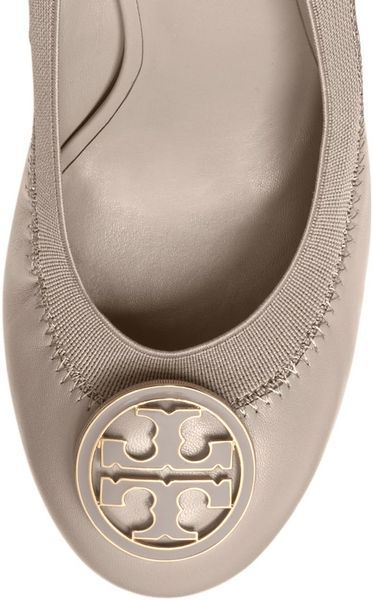 Tory Burch Caroline Wedge in Pink (DUST STORM)