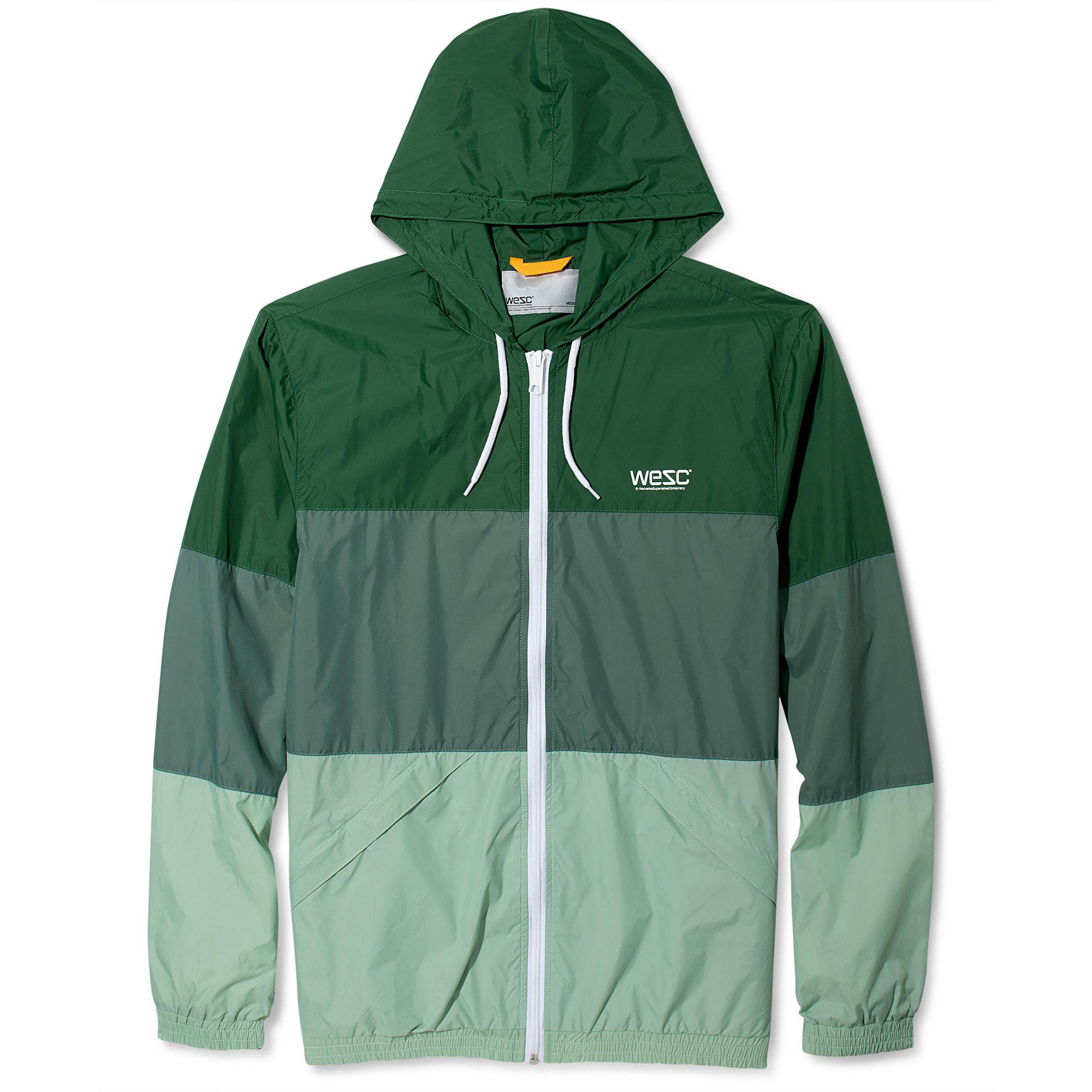 b90806f26e1ea Wesc Magnus Hooded Windbreaker Jacket in Green for Men | Lyst