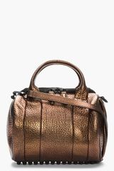Alexander Wang Bronze Pebbled Leather Rockie Duffle Bag - Lyst