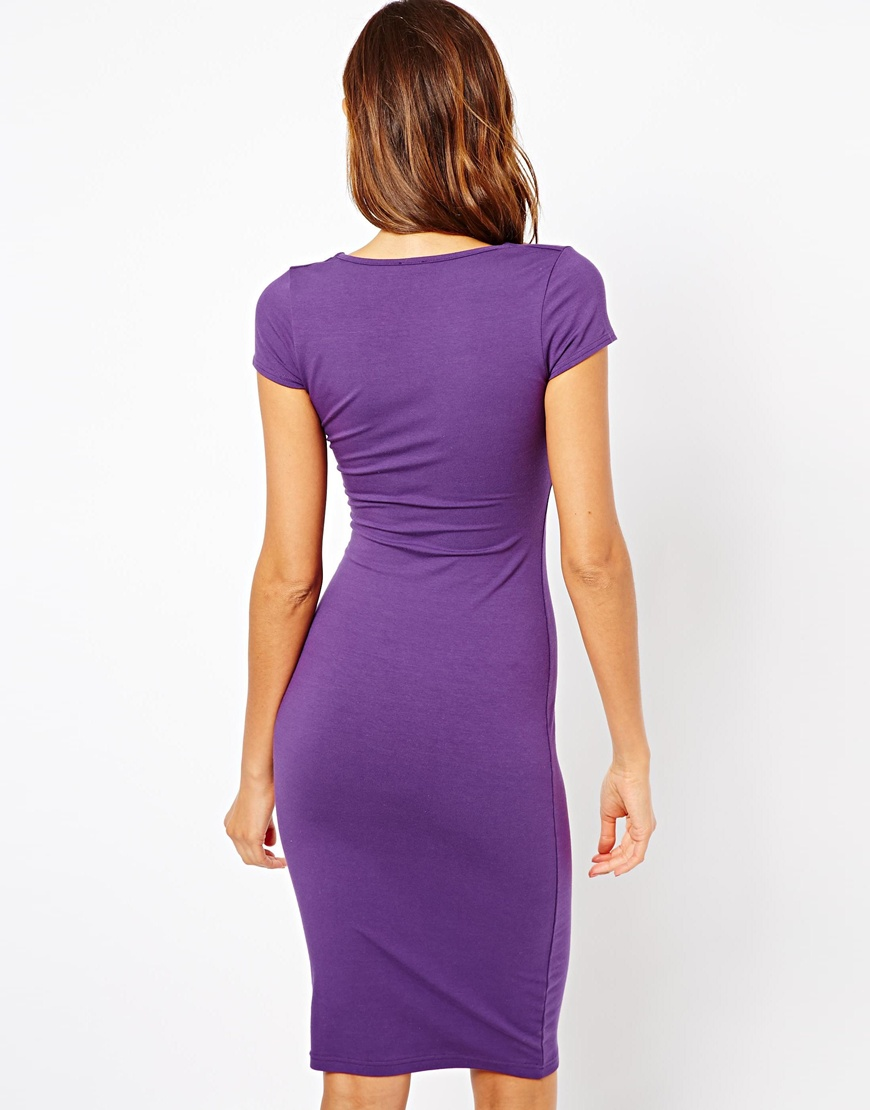 Lyst Asos Bodycon Dress With Ruched Bust And Short