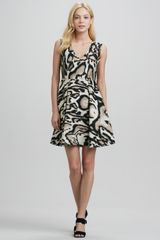 Diane Von Furstenberg Renna Leopardprint Flared Dress - Lyst
