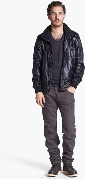Diesel Jwebb Nylon Jacket In Black For Men Lyst