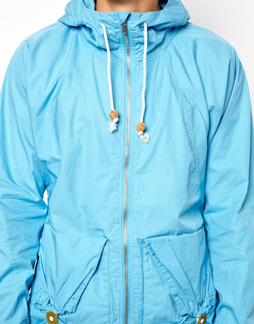 replay g star marc newson jacket hooded parka in blue for. Black Bedroom Furniture Sets. Home Design Ideas