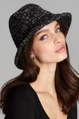 Genie By Eugenia Kim Ferris Tweed Bucket Hat - Lyst