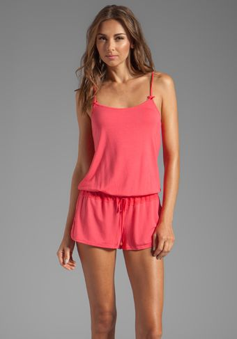 Juicy Couture Sleep Essential Romper in Pink - Lyst