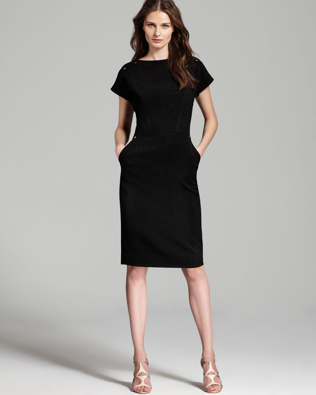 Rachel roy Short Sleeve Sheath Dress in Gray | Lyst