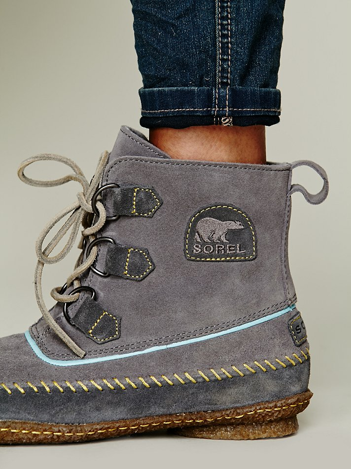 Sorel Joplin Stitch Boot In Gray Lyst