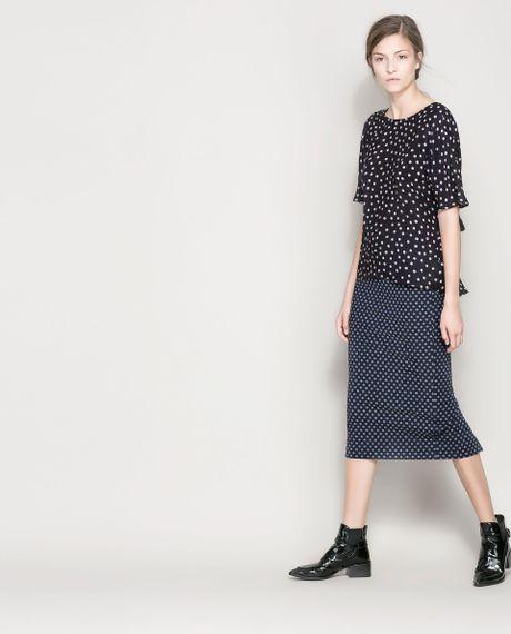 Zara Navy Blue Dress With Pencil Skirt 19