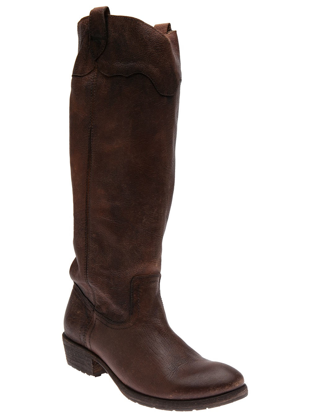 Lyst Frye Carson Lug Riding Boot In Brown