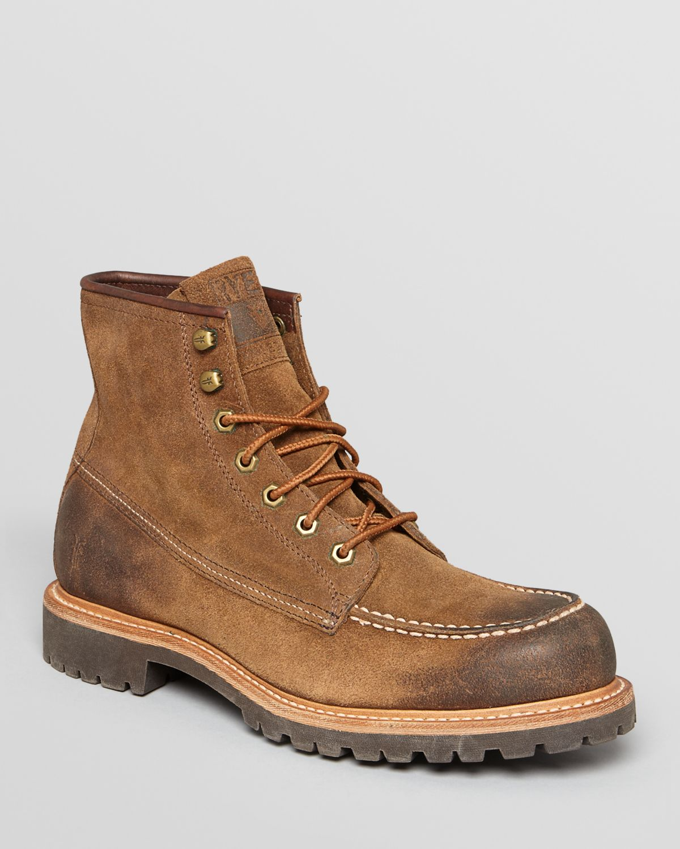 frye dakota mid nubuck boots in brown for lyst