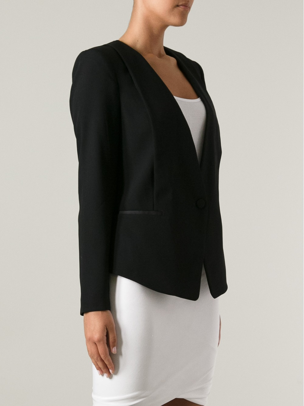 lyst day birger et mikkelsen minimalist blazer in black. Black Bedroom Furniture Sets. Home Design Ideas