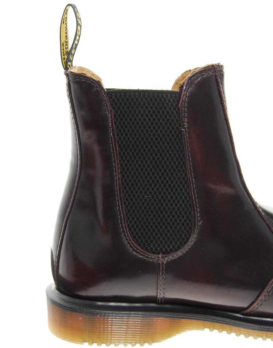 426e407186e00 Dr. Martens Kensington Flora Burgundy Chelsea Boots in Black - Lyst
