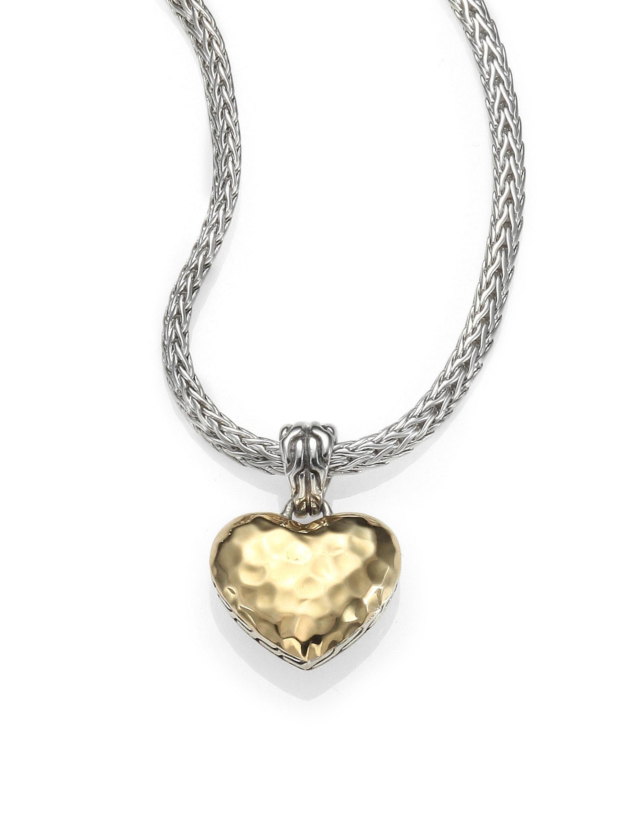 lyst john hardy 18k yellow gold sterling silver heart. Black Bedroom Furniture Sets. Home Design Ideas