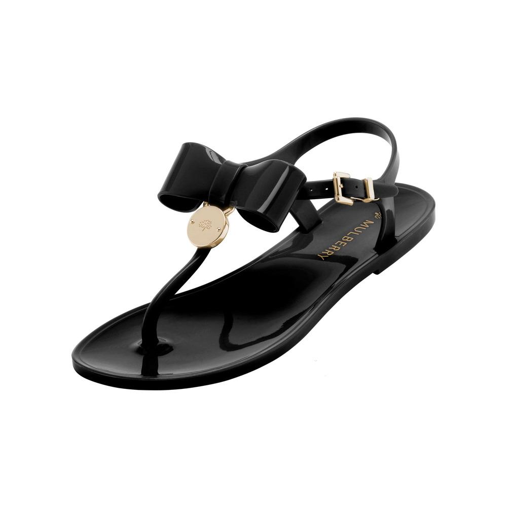 347d38d9c Black Sandals  Black Jelly Sandals With Bow